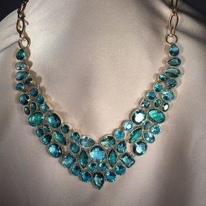 Glacial Blue Topaz & .925 Silver Necklace.